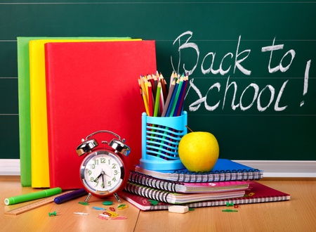 Back to school supplies. Isolated. Stock Photo - 9781439