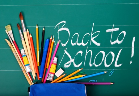 Back to school supplies. Isolated. Stock Photo - 9781444