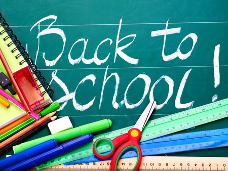 Back to school supplies. Isolated. Stock Photo - 9781756