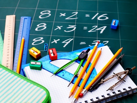 Back to school supplies. Isolated. Stock Photo - 9781252