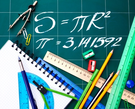 Back to school supplies. Isolated. Stock Photo - 9781712
