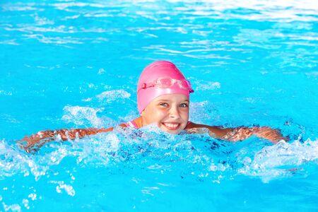 Child  swimming in pool. Stock Photo - 9898024