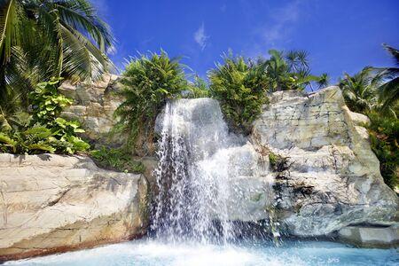 Mountain waterfall in malaysia rainforest. Langkawi. photo