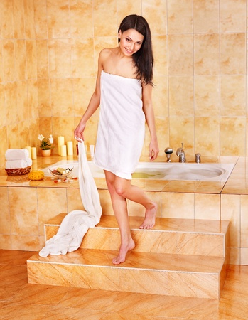 Young woman take bubble  bath. Stock Photo - 9899459