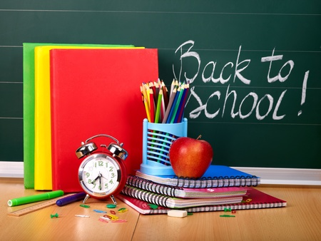 stationery: Back to school supplies. Isolated.