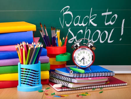 Back to school supplies. Isolated. Stock Photo - 9899428