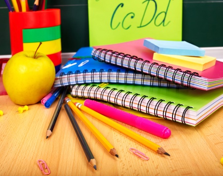 Office school supplies . Writing utensils. Stock Photo - 9972615