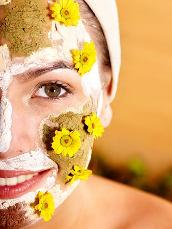 Natural homemade clay  facial masks at home . Stock Photo - 9972639