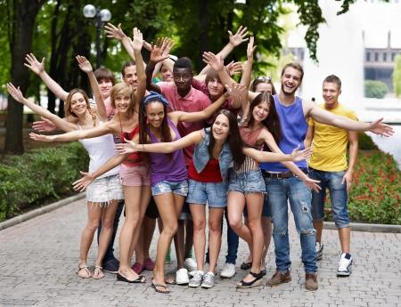 long weekend:  Multi-ethnic group of people outdoors.