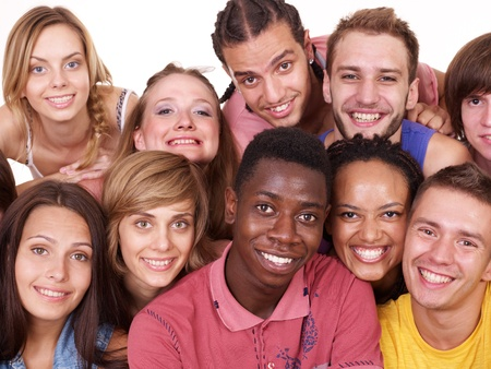 Group people  Isolated. Stock Photo - 10226238
