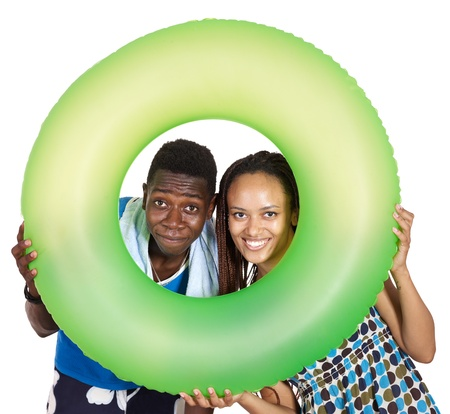 Love couple black people. Isolated. photo