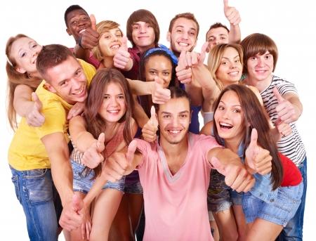 multinacional: Multi�tnico grupo de personas aisladas.