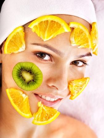 Natural homemade fruit  facial masks .  photo