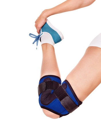 de rodillas: Trauma de la rodilla en la llave. Aislado.