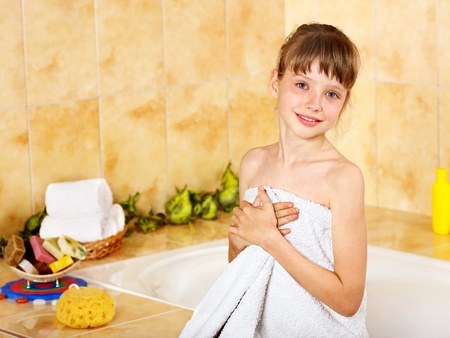 Child washing in bubble bath . Stock Photo - 10702015
