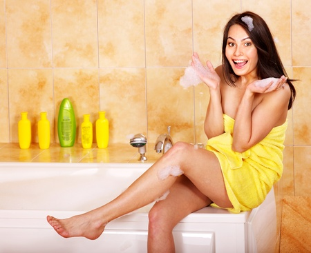 Young woman take bubble  bath. Stock Photo - 10701978