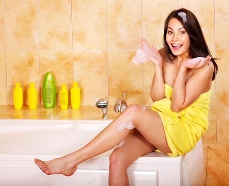 Young woman take bubble  bath. Stock Photo - 10701978