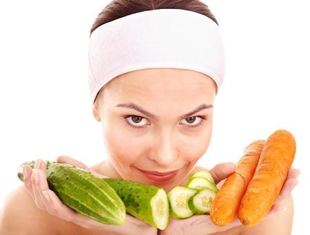 Natural homemade vegetables  facial masks . Healthy eating. photo