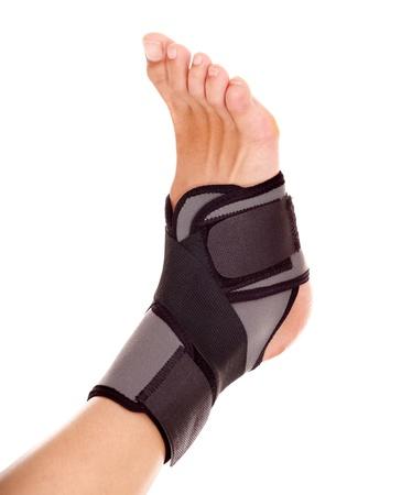 splint: Trauma de tobillo en la abrazadera. Aislados.