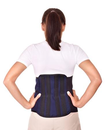 Trauma of back. Lumbar braces. Isolated. photo