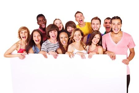 grupo de personas: Grupo de personas aisladas. Foto de archivo