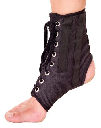 splint: Trauma of ankle in brace. Isolated.