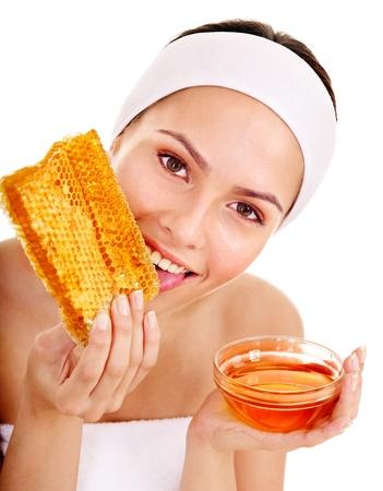 Natural homemade organic  facial masks of honey. Isolated. Stock Photo - 10853017