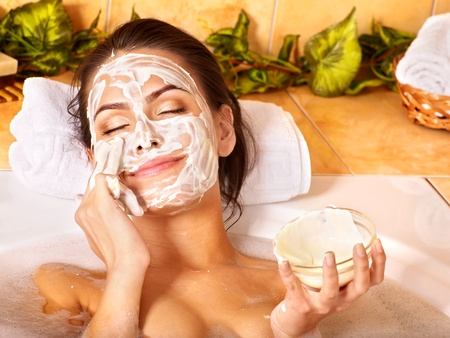 exfoliate: Natural homemade  facial masks at home .