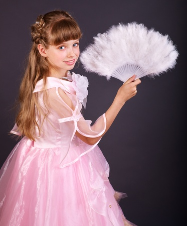 princess dress: Little girl in carnival costume.