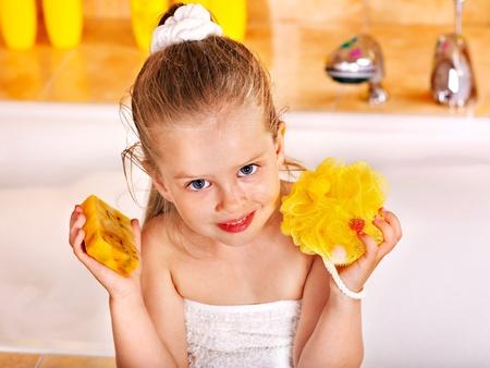 Child washing in bubble bath . Stock Photo - 11216904