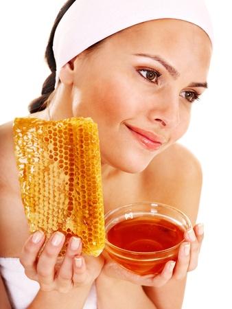 Natural homemade organic  facial masks of honey. Isolated. Stock Photo - 11216903