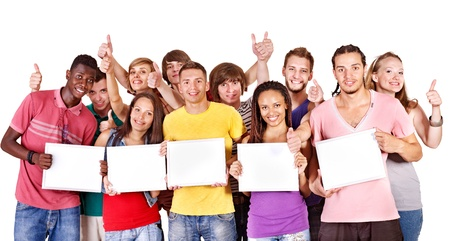 Group people  Isolated. Stock Photo - 11978655