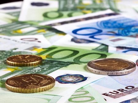Background of euro money. Close up. photo