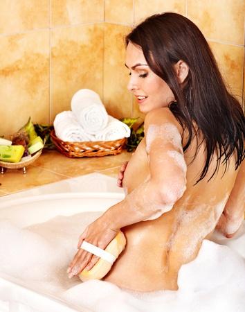 Young woman take bubble  bath. Stock Photo - 12340949