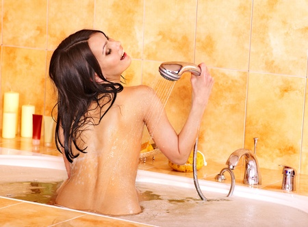 Young woman take bubble  bath. Stock Photo - 12341116