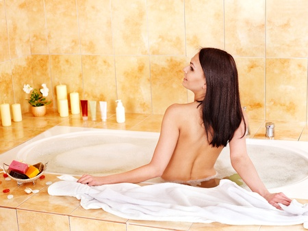 Young woman take bubble  bath. Stock Photo - 12753367