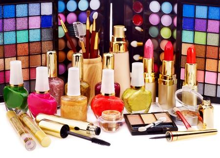 Decorative cosmetics for makeup. Close up. Stock Photo - 12755332
