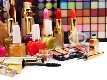 Decorative cosmetics for makeup. Close up. Stock Photo - 12755311