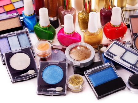 Decorative cosmetics for makeup. Close up. photo