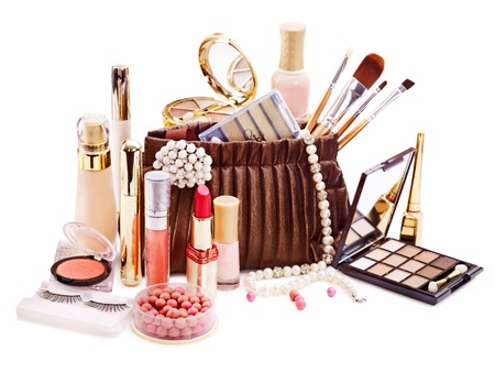 Decorative cosmetics for makeup. Close up. photo