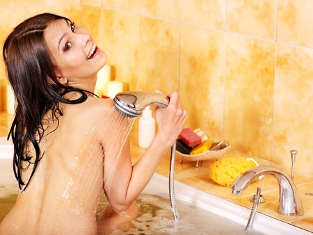 Young woman take bubble  bath. Stock Photo - 13258946