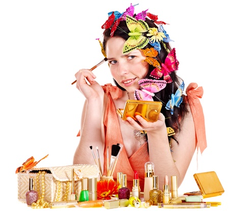 Girl in spring makeup and hairstyle . Stock Photo - 13259016
