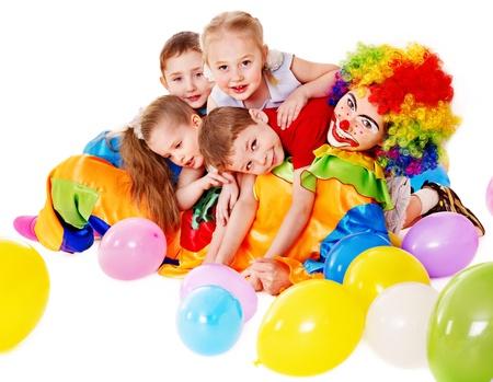 niños felices: Niño fiesta de cumpleaños feliz. Foto de archivo