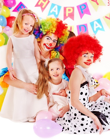 Child happy birthday party . Stock Photo - 13259104