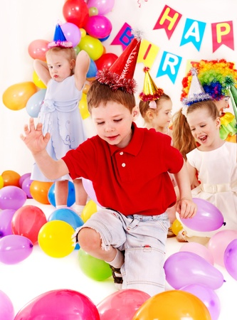 Child happy birthday party . Stock Photo - 13258982