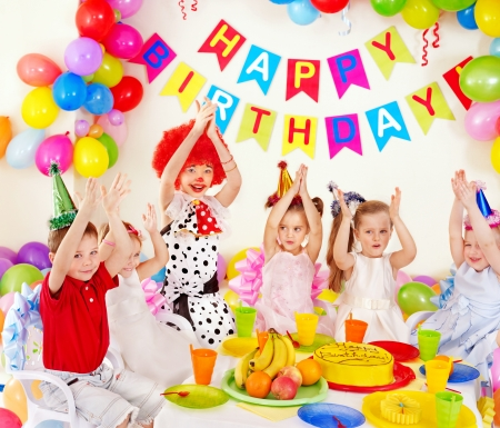 Children happy birthday party . Stock Photo - 13258662