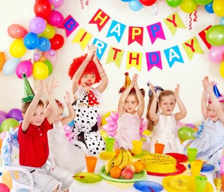 Children happy birthday party . photo