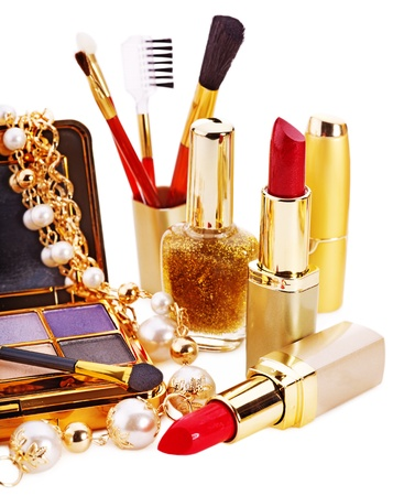 Decorative cosmetics for makeup. Isolated. photo
