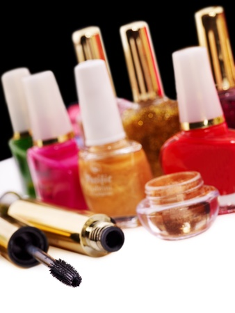 Decorative cosmetics. Isolated. photo