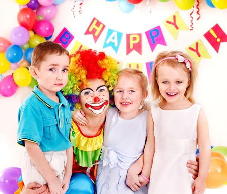 Child happy birthday party . Stock Photo - 13308140
